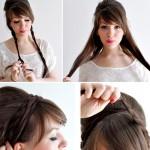 Peinados recogidos con trenzas facil y bonito para verano